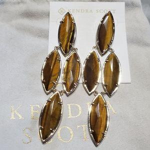 Kendra Scott Tigers Eye Arminta Earrings